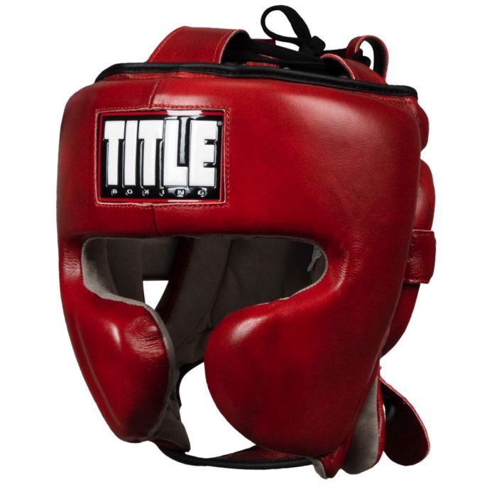Bảo Hộ Đầu Title Blood Red Leather Sparring Headgear