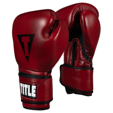 Găng Tay Title Blood Red Leather Training Gloves