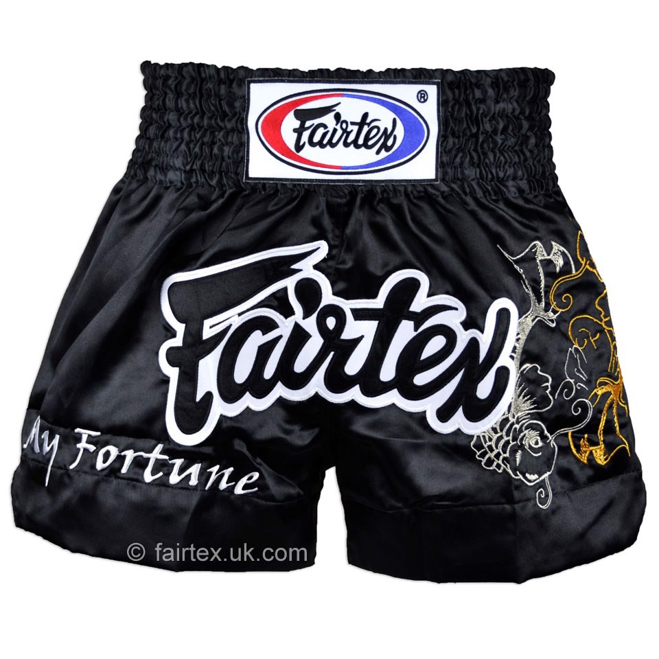 Quần Fairtex Bs0639 My Fortune Black Muay Thai Short