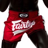 QUẦN FAIRTEX BS1704 RED-WHITE SLIM CUT MUAY SHORT