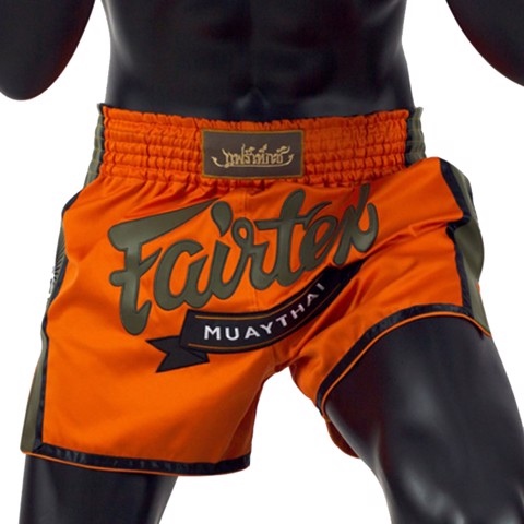 Quần Fairtex Bs1705 Orange Slim Cut Muay Short