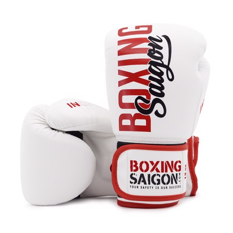 Găng Tay Boxing Saigon Inspire - White/Red