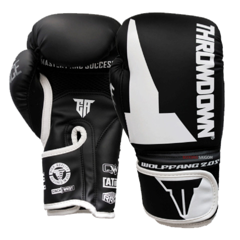 GĂNG TAY THROWDOWN WOLF FANG 2.0S BOXING GLOVES - BLACK/WHITE