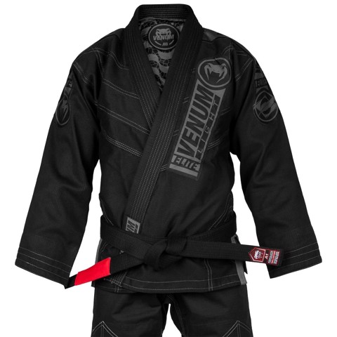 GI VENUM ELITE LIGHT 2.0 BJJ GI (BAG INCLUDED) - BLACK/BLACK