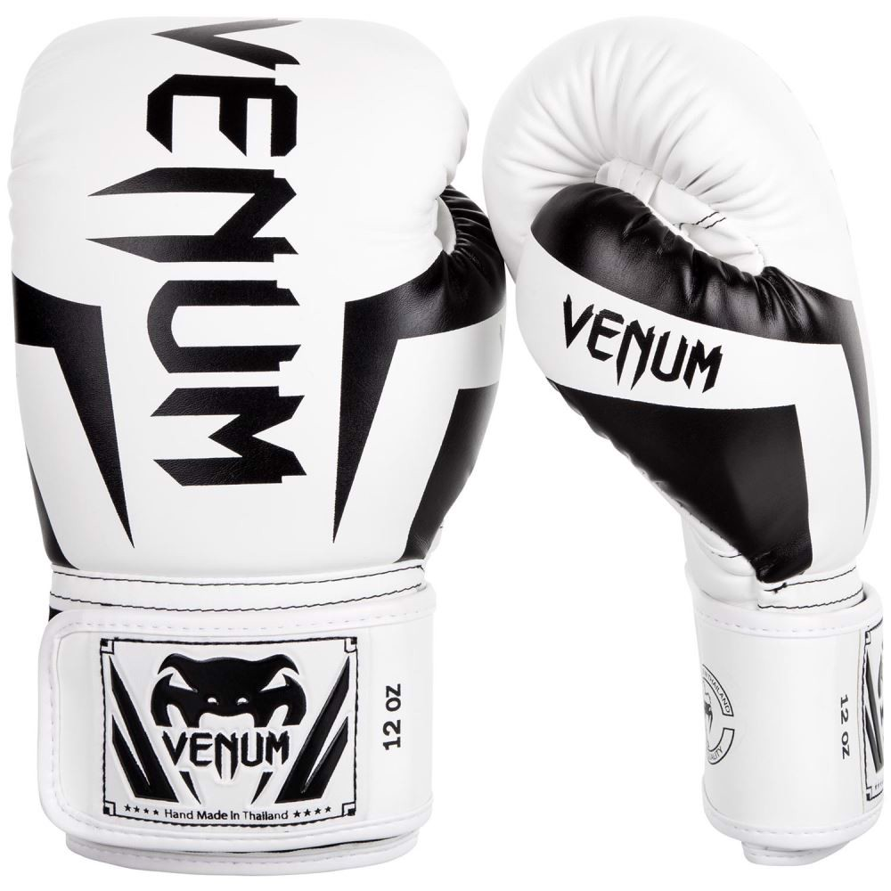 GĂNG TAY VENUM ELITE BOXING GLOVES - WHITE/BLACK