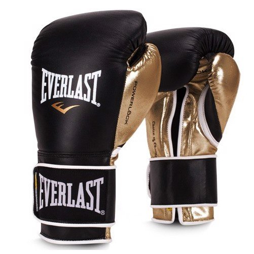 Găng Tay Everlast Powerlock Hook & Loop Training Boxing Gloves - Gold/Black