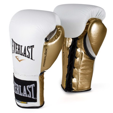 GĂNG TAY EVERLAST POWERLOCK LACED TRAINING GLOVES - WHITE