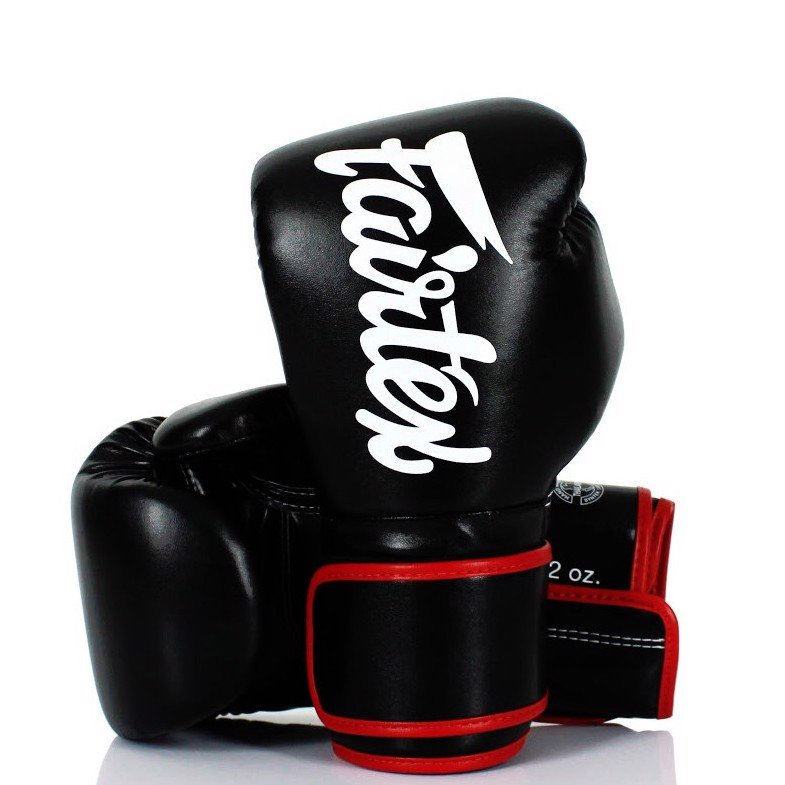 Găng Tay Fairtex Bgv14 Microfiber Leather Boxing Gloves - Black/Red
