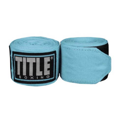 BĂNG QUẤN TAY TITLE FIGHT BACK SEMI ELASTIC HAND WRAPS - LIGHT BLUE