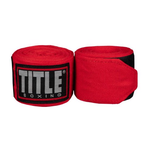 BĂNG QUẤN TAY TITLE FIGHT BACK SEMI ELASTIC HAND WRAPS - RED