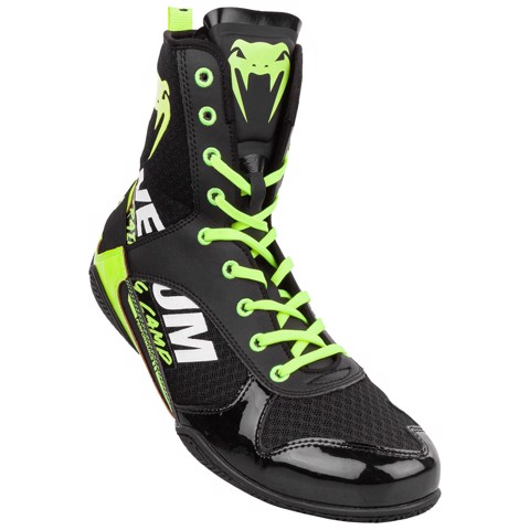 Giày Venum Elite Vtc 2 Edition Boxing Shoes - Black/Neo Yellow