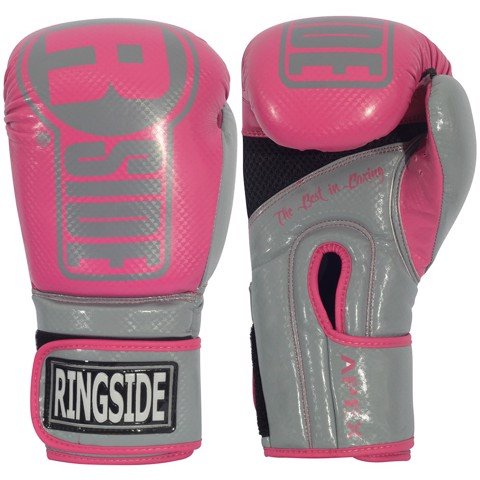 GĂNG TAY RINGSIDE APEX BAG GLOVES - PINK/GREY