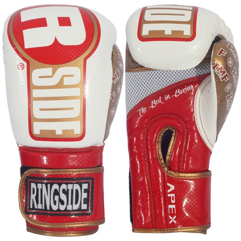 GĂNG TAY RINGSIDE APEX BAG GLOVES - WHITE/RED/GOLD