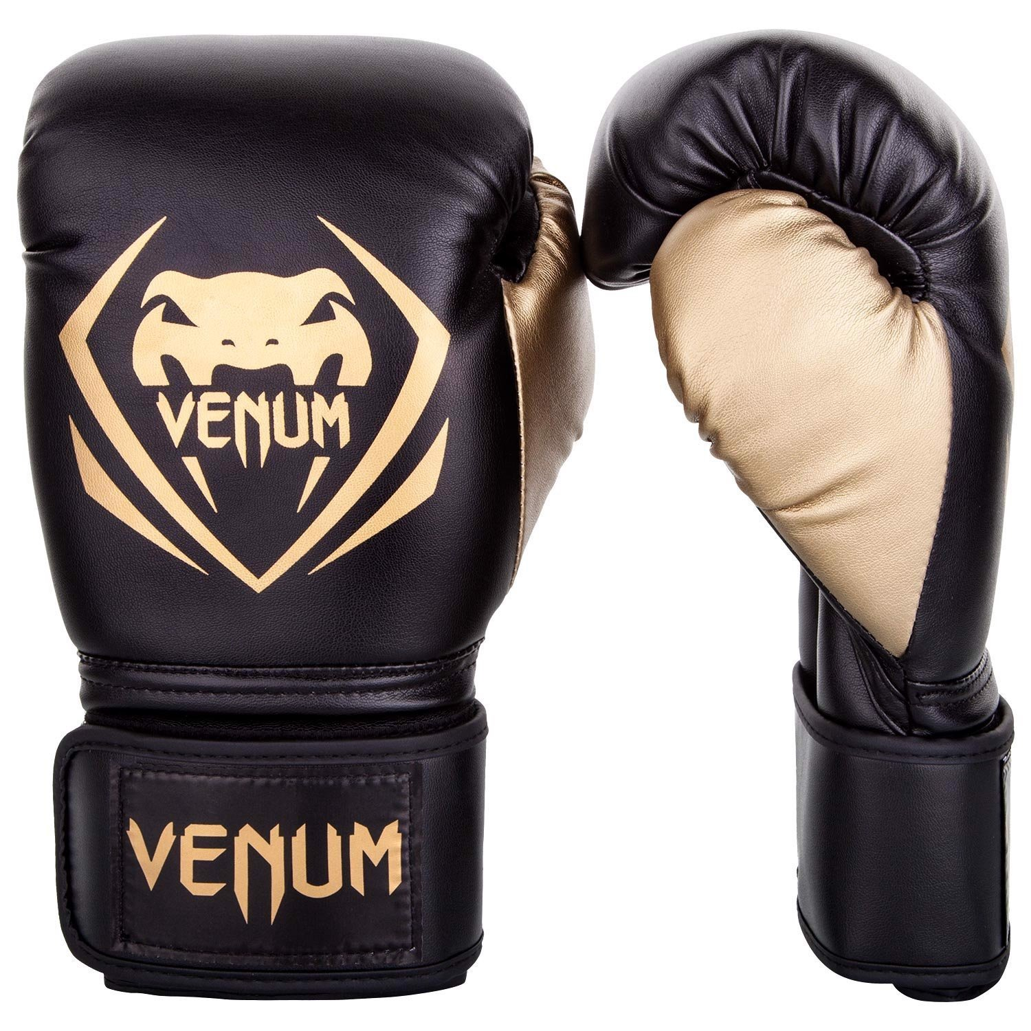 Găng Tay Venum Contender Boxing Gloves - Black/Gold