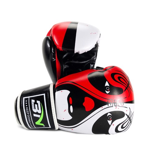 GĂNG TAY BN BEIJING OPERA MASK BOXING GLOVES - BLACK/RED