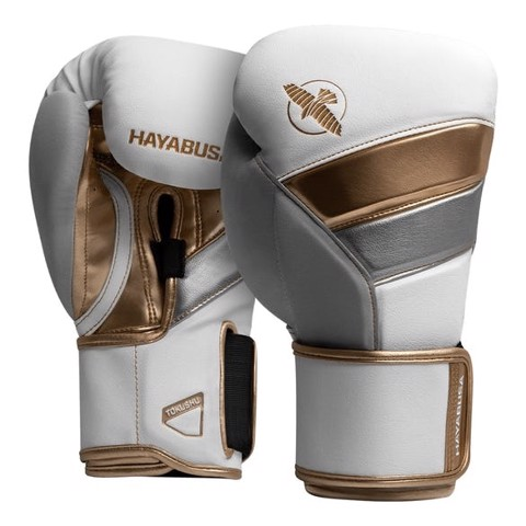 Găng Tay Hayabusa T3 Boxing Gloves - White/Gold