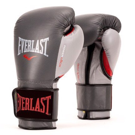 GĂNG TAY EVERLAST POWERLOCK HOOK & LOOP TRAINING GLOVES - GREY/RED