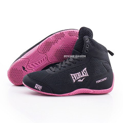 Giày Everlast Forceknit Boxing Shoes - Black/Purple ( Hàng Xuất Dư )