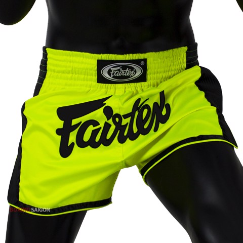QUẦN FAIRTEX BS1706 LIME GREEN SLIM CUT MUAY SHORT