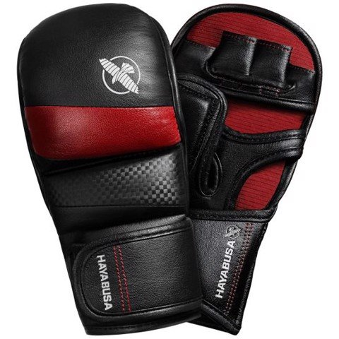 GĂNG TAY HAYABUSA T3 7OZ HYBRID GLOVES - BLACK/RED