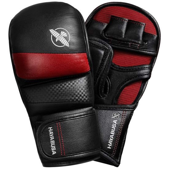 T3 7OZ HYBRID GLOVES - BLACK/RED