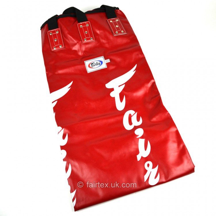 VỎ BAO CÁT FAIRTEX HB6 MUAY THAI BANANA BAG ( UN-FILLED ) - RED