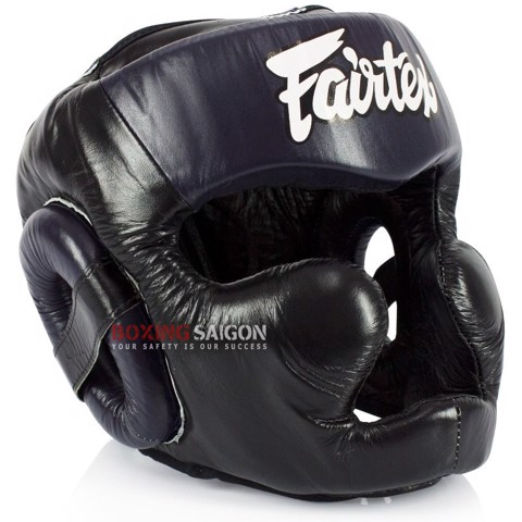Bảo Hộ Đầu Fairtex Hg13 Full Coverage Head Gear Lace-Up - Black/Navy