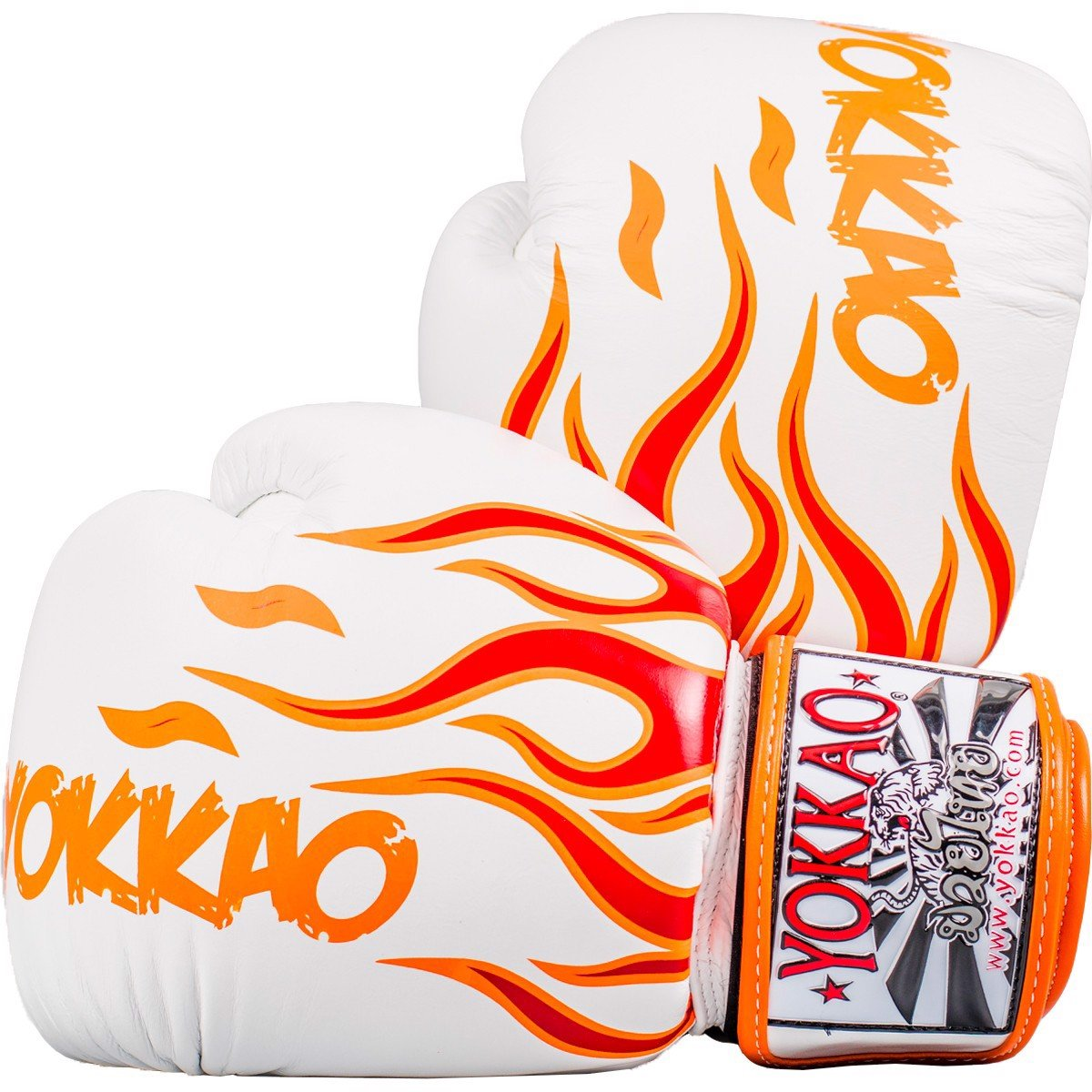 GĂNG TAY YOKKAO FYGL-31 INFERNO WHITE MUAY THAI & BOXING GLOVES
