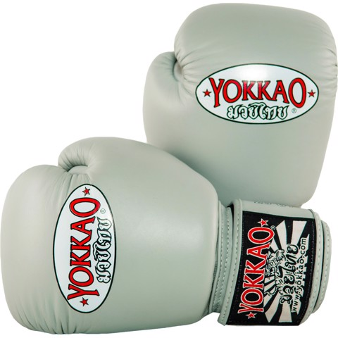 GĂNG TAY YOKKAO BYGL-X MATRIX MUAY THAI & BOXING GLOVES - GREY
