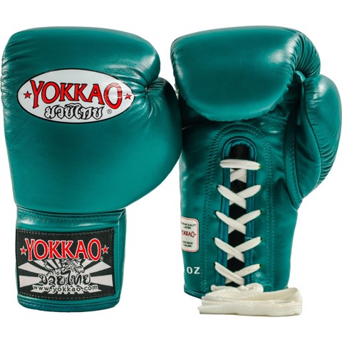 GĂNG TAY YOKKAO MATRIX PETROLEUM LACE UP BOXING GLOVES