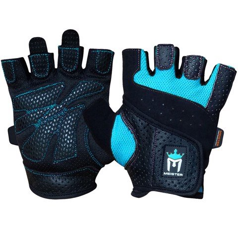 Găng Tay Gym Meister Women's Fit Weight Lifting Gloves - Black/Blue