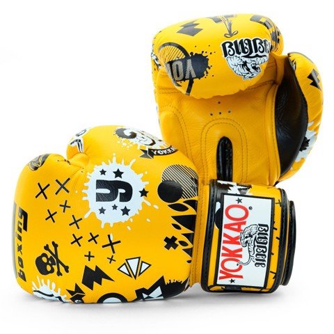 Găng Tay Yokkao Fygl-49 Rock'N'Rolla Gold Fusion Boxing Gloves