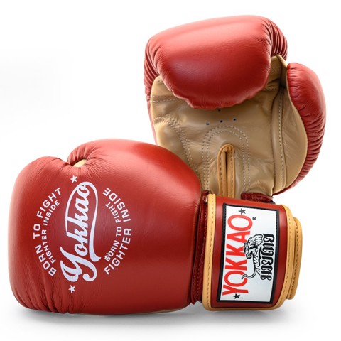 Găng Tay Yokkao Fygl-25 Vintage Boxing Gloves - Red