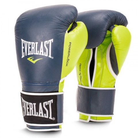 GĂNG TAY EVERLAST POWERLOCK HOOK & LOOP TRAINING GLOVES - NAVY/GREEN