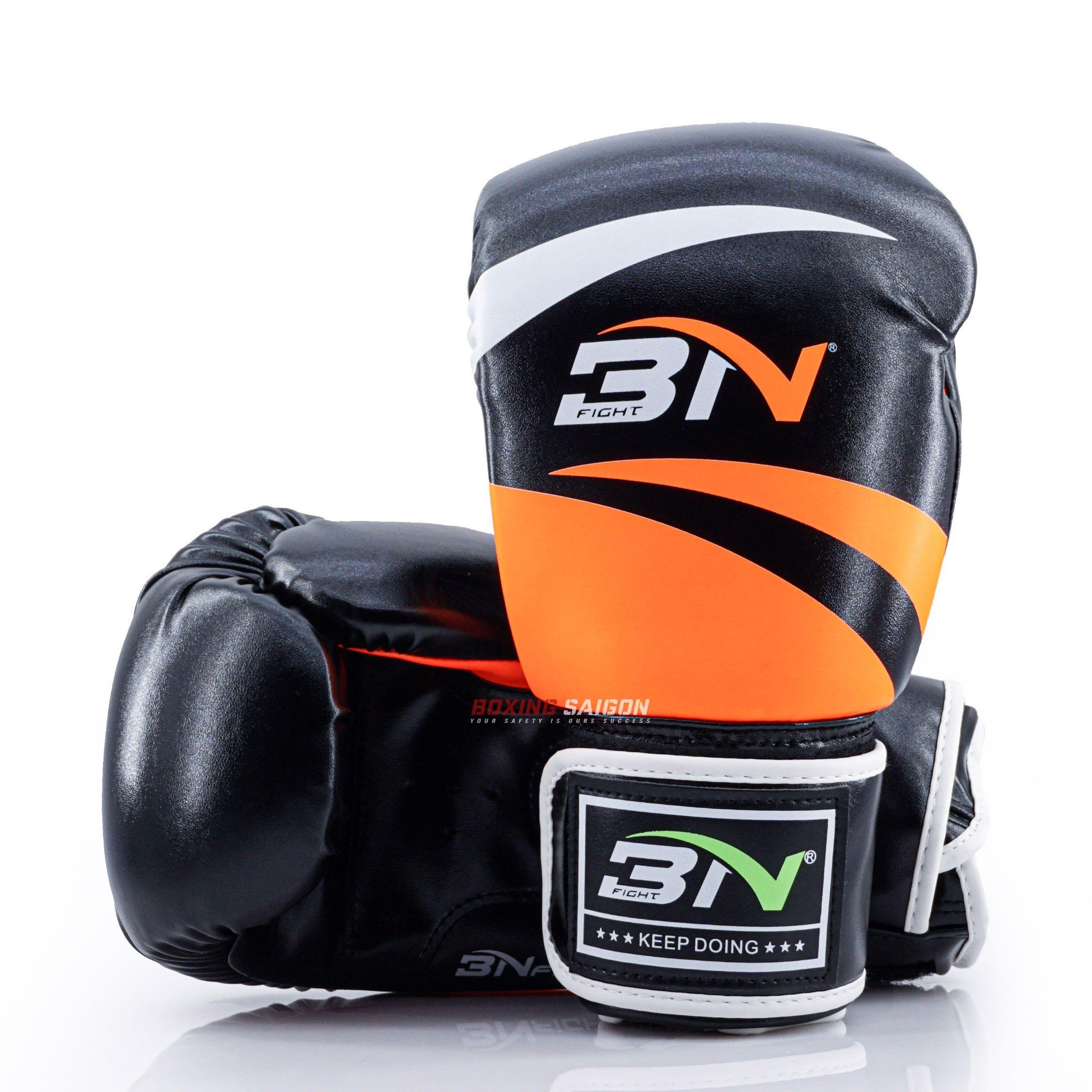 Găng Tay Bn Boxing Gloves - Black/Orange