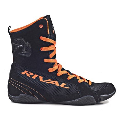 GIÀY RIVAL RSX-ONE CLASSIC HIGH TOP BOXING SHOES - BLACK/ORANGE