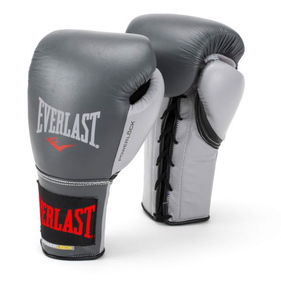 Găng Tay Everlast Powerlock Laced Training Gloves - Grey