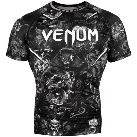 ÁO BÓ VENUM ART RASHGUARD - SHORT SLEEVES - BLACK/WHITE