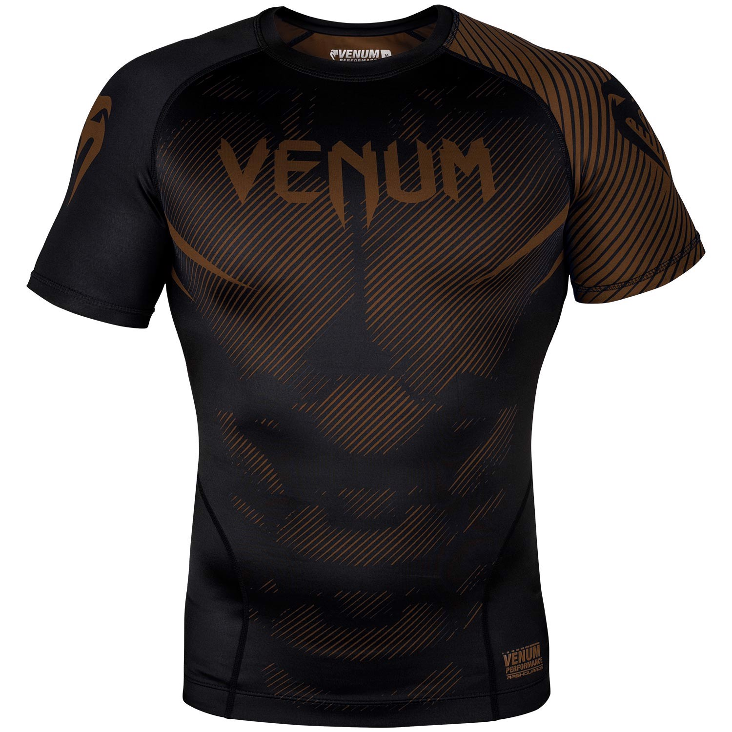 ÁO BÓ VENUM NOGI 2.0 RASHGUARD - SHORT SLEEVES - BLACK/BROWN