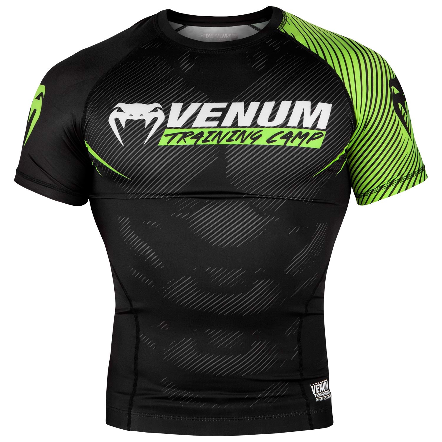 ÁO BÓ VENUM TRAINING CAMP 2.0 RASHGUARD - SHORT SLEEVES - BLACK/NEO YELLOW