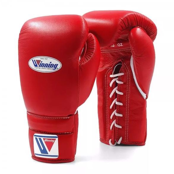 Găng Tay Boxing Winning Laces Gloves - Red