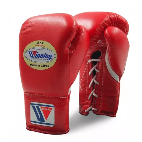 Găng Tay Boxing Winning Pro Fight Laces Gloves - Red