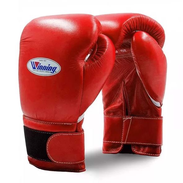Găng Tay Boxing Winning Velcro Gloves - Red