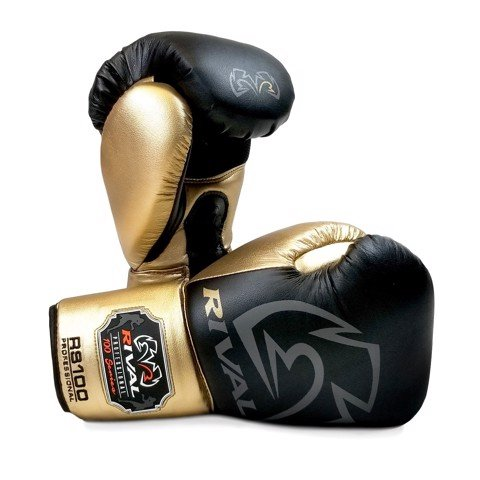 GĂNG TAY RIVAL RS100 PROFESSIONAL SPARRING GLOVES - BLACK/GOLD