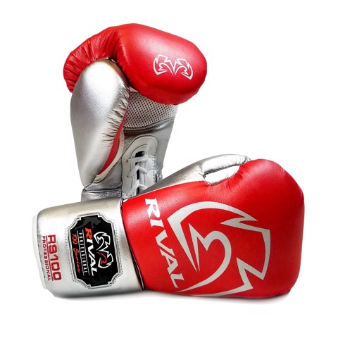 GĂNG TAY RIVAL RS100 PROFESSIONAL SPARRING GLOVES - RED/SILVER