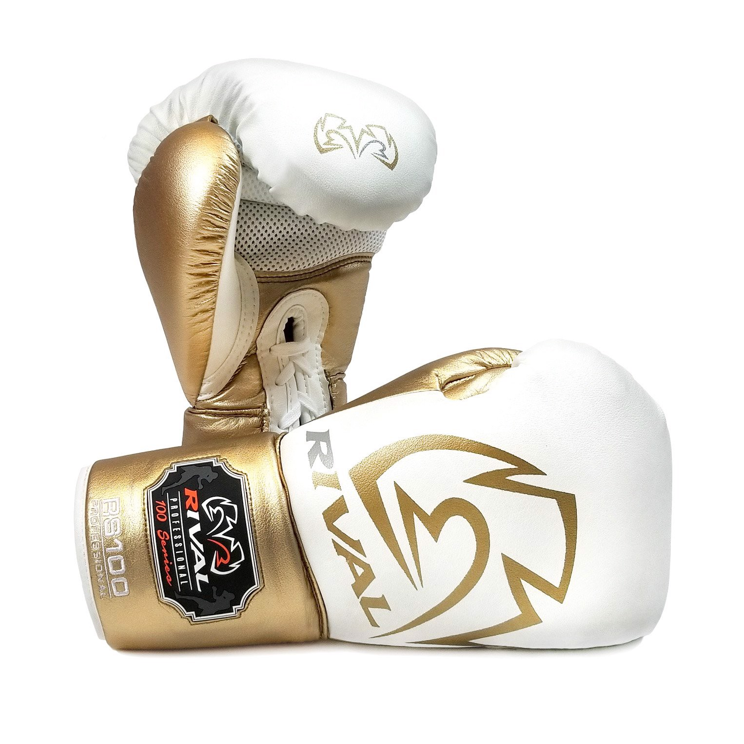 Găng Tay Rival Rs100 Professional Sparring Gloves - White/Gold