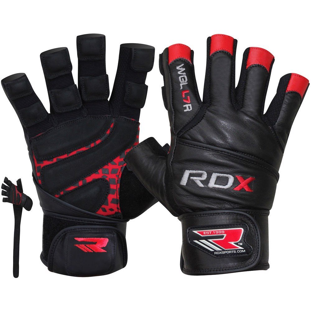 GĂNG TAY RDX LEATHER BODYBUILDING WORKOUT GYM LIFTING GLOVES