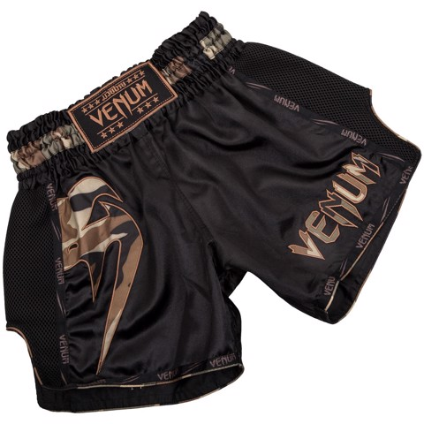QUẦN VENUM GIANT MUAY THAI SHORTS - BLACK/FOREST CAMO