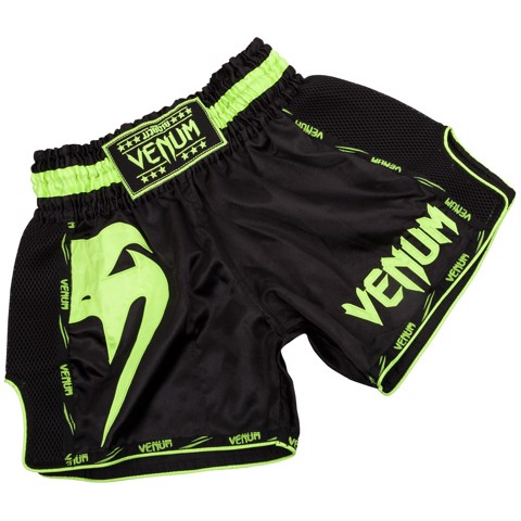 QUẦN VENUM GIANT MUAY THAI SHORTS - BLACK/GREEN