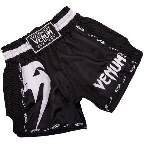 Quần Venum Giant Muay Thai Shorts - Black/White